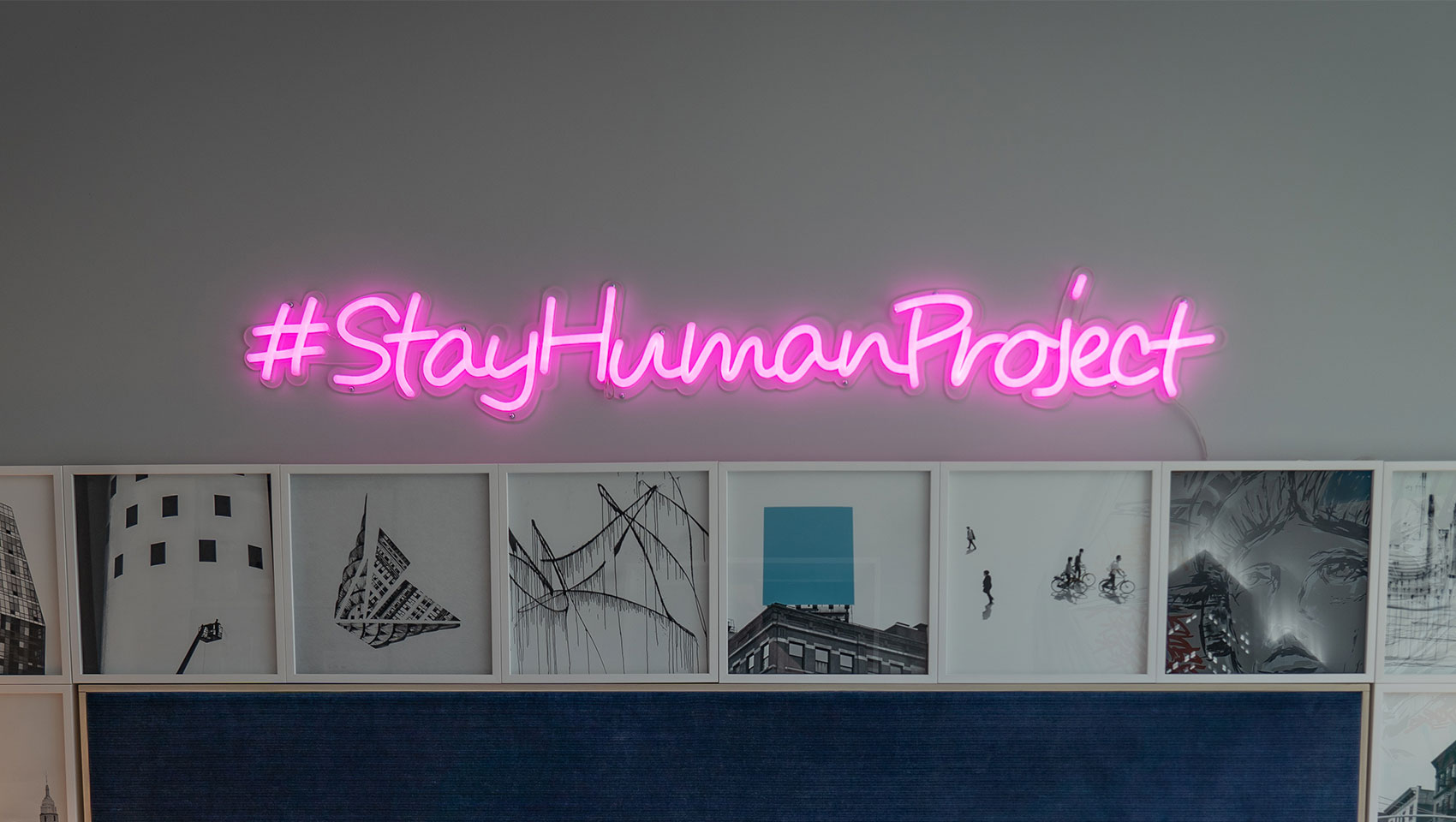 The Kimpton Stay Human Project sign