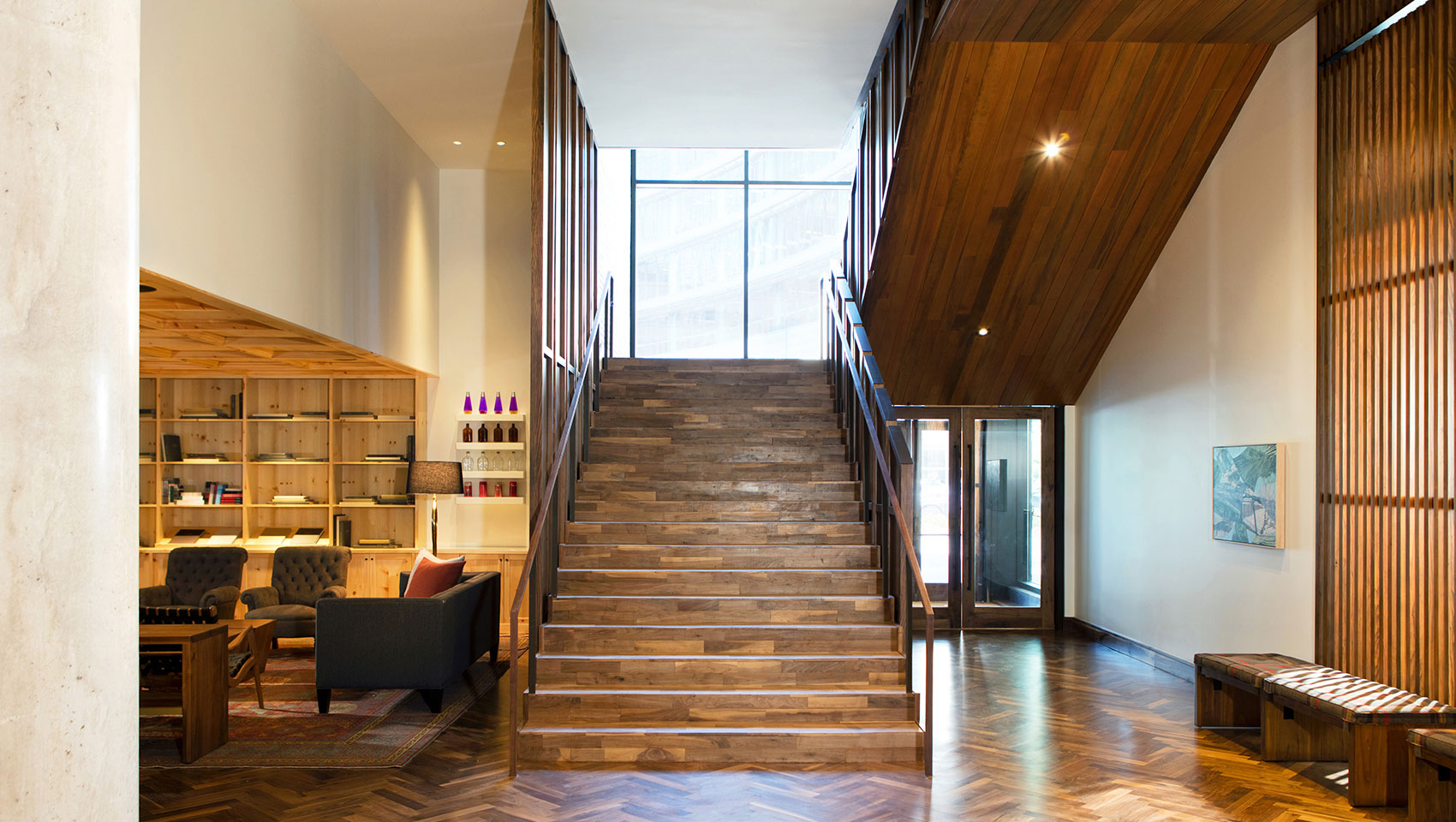 lobby-lounge-stairs-hardwood-denver-born