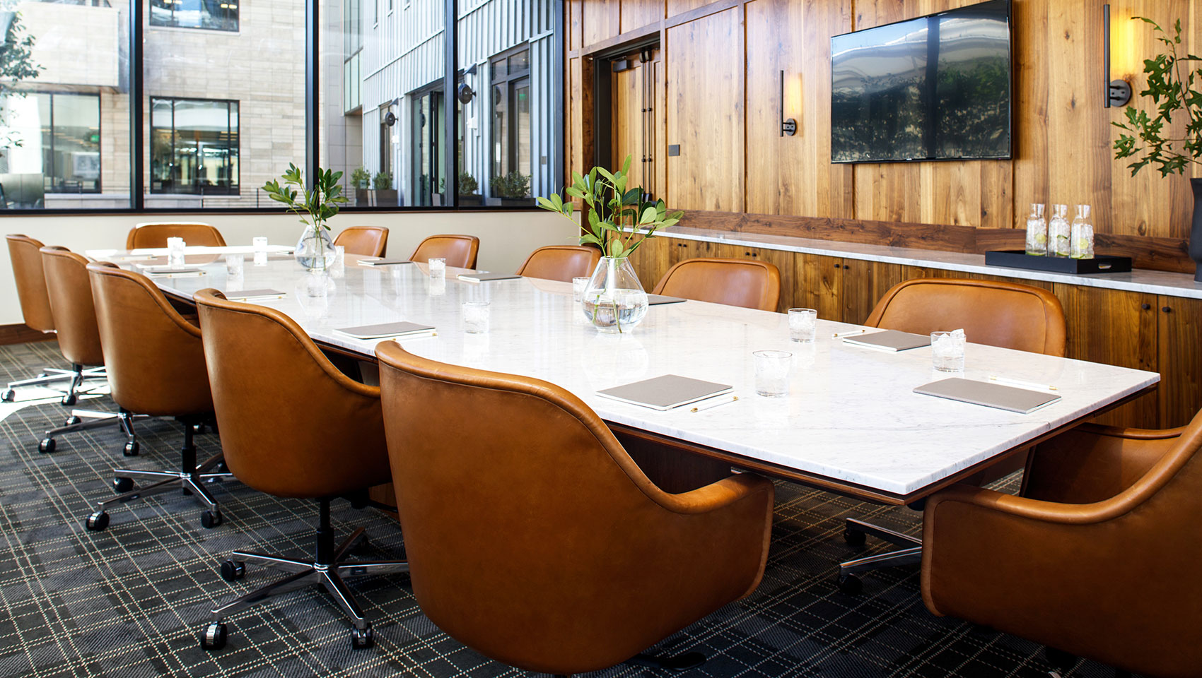 nordic boardroom meeting space denver born hotel